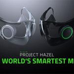 ゲーミングマスク  N95、アクティブ換気、マイクと発光LED内蔵、紫外線除菌ケース付き