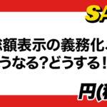 4月1日の未来から消費税込みの総額表示が義務化 1100円(税抜き1000円)表示はOK