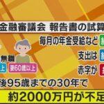 現在の65歳夫婦 年金だけでは毎月5万円の赤字 老後の未来に貯金2000万円必要と判明