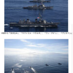 【親日罪】韓国海軍さん、旭日旗を掲げた海自さんと並んで共同訓練をしてしまうw  [844628612]