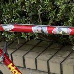 ウーバーイーツのライダーがメッセンジャーの自転車を盗んで逃走中の模様  [159715543]