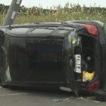 定員オーバーの乗用車が電柱に衝突し横転  乗っていた10代6人重軽傷  石狩  [969416932]